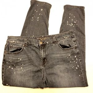 Seven Melissa Mccarthy Splatter Girlfriend Jeans